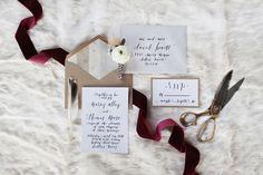 simple calligraphy wedding invite