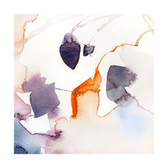 Watercolor Abstract Flora Series : Fall 1 Wall Art Prints by V E R Y M A R T A | Minted