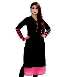 Buy black color designer kurti party-wear-kurti online