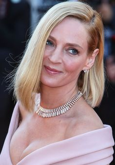 "Uma Thurman attending the opening gala ""Ismael's Ghosts"" at the 70th Cannes Film Festival held at the Palais des Festivals in Cannes, France on May 17, 2017"