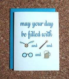 Harry Potter Card - filled with Harry Potter, birthday, wedding
