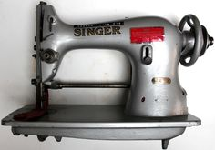 Singer 44-90. For light, medium and heavy weight leather gloves. Alternating pressers (walking foot). High lift presser. Upper and under feed. Adjustable edge guide (roller). Maximum stitch length 5 to the inch. Maximum speed 2200.