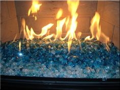 fireplaces with glass rocks. I want fire glass in my place  Fireplace Replaces gas logs and lava rocks easy installation