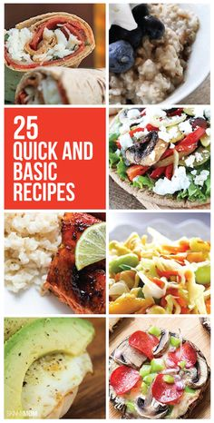 These healthy recipes are SO easy and quick to make!