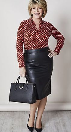 Pencil Skirt Outfits, Pencil Skirt Black, Pencil Skirts, Office Skirt Outfit, Office Outfits, Ruth Langsford, Office Fashion Women, Womens Fashion, Fashion Tights