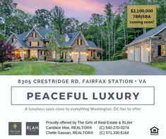 The Girls of Real Estate Warrenton Va, Fairfax Station, Fairfax County, Northern Virginia, Luxury Living, Modern Luxury, Washington Dc, Twilight, Searching