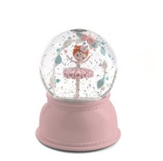 Snekugle med Natlys Ballerina - Djeco Little Big Room Glitter Globes, Snow Globes, Glitter Lamp, Nightlights, Designers Guild, Decorative Objects, Decoration, Light Up, Glow