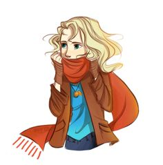 Could be Percy and Annabeth's daughter but she's wearing a snitch on a necklace so I'm thinking more Luna.