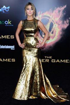 O dourado deu o tom em 2012   Jennifer Lawrence   foto: Getty