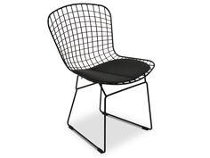 Hank Bertoia Dining Chair- Black Cushion