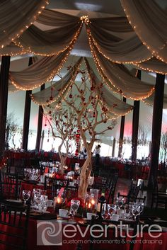 Professional tent draping and tent liner installation, Toronto