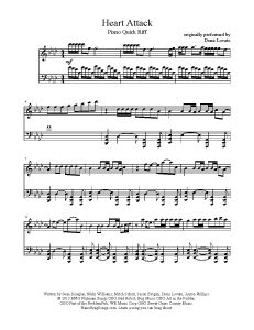 Heart Attack - Demi Lovato. Find more sheet music at www.PianoBragSongs.com.
