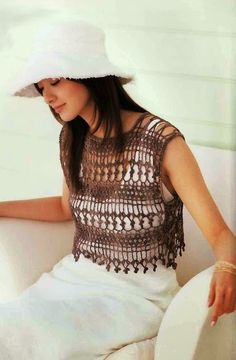 Lace blouse Crochet Spring Summer Top Made to Order