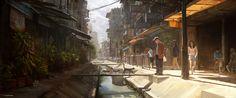 ArtStation - Bangkok XXIII - Sunny Alley, Julien Gauthier