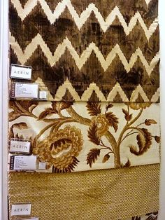 Aerin Lauder - Home fabric line for Lee Jofa brown family of fabrics