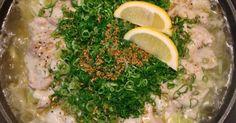 ねぎ塩豚丼風のオリジナル鍋。たっぷりねぎと豚肉に旨塩スープが絡む味は簡単調理なのにめちゃ美味しいので是非ご賞味あれ〜!