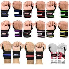 Be Smart - Weight Lifting - Wrist Wraps - Bandage - Hand Support - GYM Straps - Cotton Grip Brace- Cross fit - *Professional Wrist Wraps Available In 18 Colors* (Green with White)
