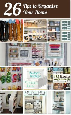 26 tips and ideas for organizing your home | Hometalk