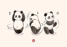 """Mientras se hace la Polar Bear, Panda baila! (Y comer, por supuesto) Común! WAG esos pequeños bollos! <3 En el webcomic """"* Panda y oso polar *"""": http: //www.pandaandpolarbear.com Original post: """"La danza de Alimentos Panda"""": http://www.pandaandpolarbear.com/comic/panda-food-dance/ • Buy this artwork on apparel, stickers, phone cases y more."""