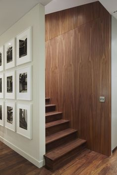 Stair Behind Photo Wall in Pulltab Project on White Street, Tribeca, New York, Photos, Mikiko Kikuyama
