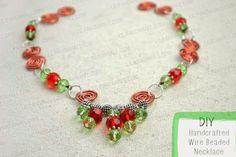 Ef Zin Creations: DIY Handcrafted Wire Beaded Necklace