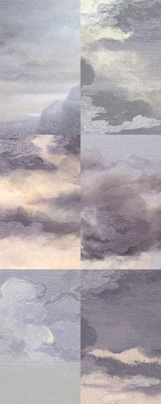 "Little Owl Design: ""Dutch Sky"" Wallpaper. Dusk-Violet."