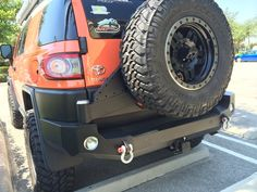 FJ Cruiser Trail Series Rear Bumper with Smooth Motion STC System, smooth motion tire carrier, expedition one rear bumper, FJ Cruiser aftermarket bumper Hi Lift Jack Mount, Toyota Fj Cruiser, Jeep Rubicon, Toyota Hilux, Roof Rack, Land Rover Defender, Snorkeling, Offroad, Monster Trucks