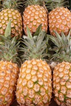 pineapples - local tropical fruit