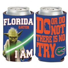 "NCAA Florida Gators Star Wars ""Do or Do Not There Is No Try"" 12oz Can Cooler"