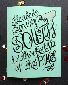 Headed down South (print), A2 Card, Printed, Blank Inside on Etsy, $3.00