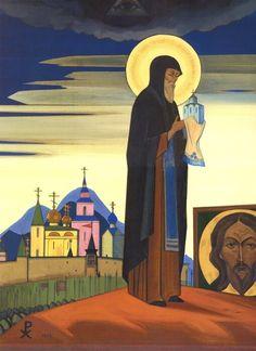 "Nicholas Roerich.Sergius of Radonezh,https://cross-stitching.biz/nicholas-roerich-sergius-radonezh/,Nicholas Roerich.Sergius of Radonezh Cross-stitch pattern ""Sergius of Radonezh"""