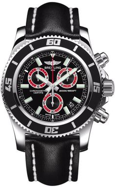 Breitling Watch Superocean Chronograph M2000 #add-content #bezel-unidirectional #bracelet-strap-leather #brand-breitling #case-depth-19mm #case-material-steel #case-width-46mm #chronograph-yes #cosc-yes #date-yes #delivery-timescale-call-us #dial-colour-black #gender-mens #luxury #movement-quartz-battery #official-stockist-for-breitling-watches #packaging-breitling-watch-packaging #style-divers #subcat-superocean #supplier-model-no-a73310a8-bb72-441x