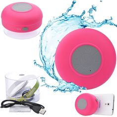 Silicone Waterproof Wireless Mic Suction Stereo Bluetooth Mini Speaker RED #UnbrandedGeneric