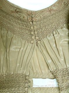 Dress - Dress Design House: Liberty & Co. (British, founded London, 1875) Date: 1890s Culture: British Medium: silk, linen, cotton Dimensions: Length at CB: 50 1/2 in. (128.3 cm) Credit Line: Purchase, Irene Lewisohn Trust Gift, 1986