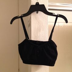 FOREVER 21 black bralette top 8/10 condition - buttons on the front - adjustable straps - NO TRADES SORRY Forever 21 Tops Crop Tops
