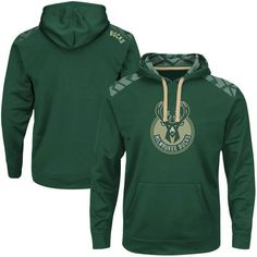 Milwaukee Bucks Majestic Armour Synthetic Performance Pullover Hoodie - Hunter Green