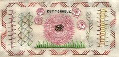 TAST 2012 Week 2  Buttonhole Stitch | by stitchintime posted on Flickr by Gayle Schippen