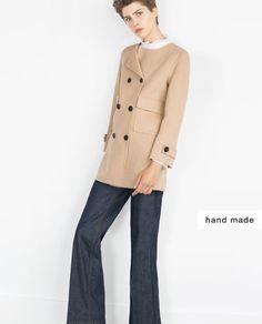 b8856b0f ПАЛЬТО РУЧНОЙ РАБОТЫ Camel Coat, Zara United States, Outerwear Women,  Fashion Lookbook,