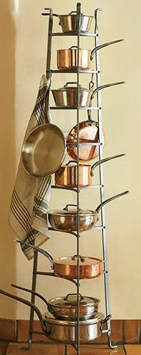 Enclume Standing 8-Tier Pot Rack | Crate and Barrel