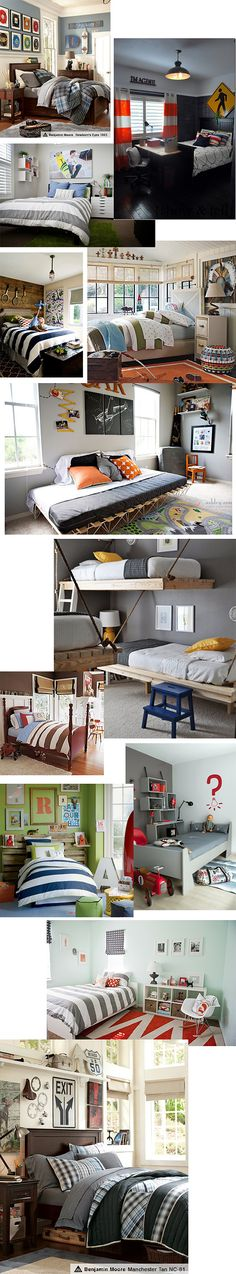 boys room ideas love the Benjamin Moore color in top picture for Dallen's room.