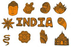 India set: 11 elements by AnnaLytvynenko on Creative Market