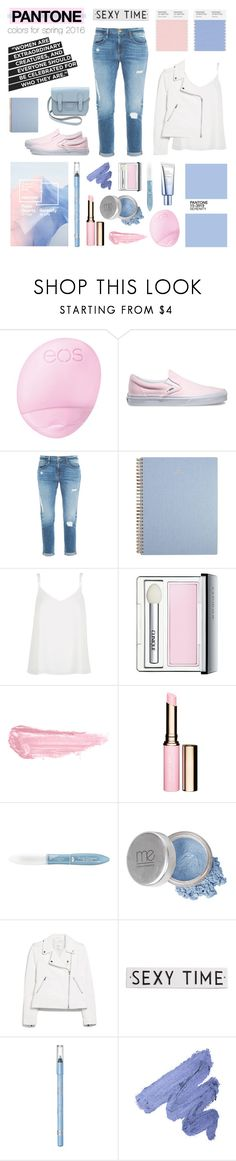 """PANTONE colors for spring 2016"" by the-fashion-drawer ❤ liked on Polyvore featuring Butter London, Eos, Vans, Frame Denim, River Island, Clinique, By Terry, Clarins, L'Oréal Paris and Mineral Essence"