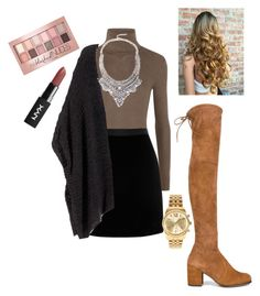 """""""Untitled #1920"""" by vireheart ❤ liked on Polyvore featuring MICHAEL Michael Kors, H&M, Stuart Weitzman, Michael Kors and Maybelline"""