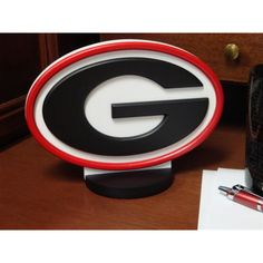 Fan Creations University of Georgia Desk Logo Art - C0530-Georgia