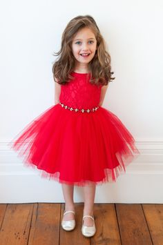 If you want your little girl to be the best dressed at the party, the David Charles fabulous red princess dress is the perfect choice. In a bright scarlet red shade, this stunning luxury girl's party dress features a red corded lace bodice and a beautiful tulle skirt with lots of volume that will have her looking like the pretty little princess that she is. A dazzling red belt with clear and red jewels makes it extra special. This dress is perfect for the holidays, thanksgiving or for your…