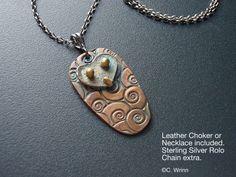 Owl Jewelry, Pure Silver with a Gold Patina, Unique Owl | GildedOwlJewelry - Jewelry on ArtFire