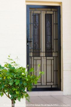 ... Style Security Screen Doors Combine Strength And Security With  Decorative Aluminium Cast Panel Doors That Provide Excellent Security For Your  Front Door