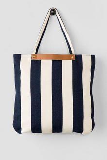 Harbor Blue & White Stripe Tote
