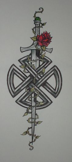 Celtic Knot with Sword by ~shadowkeeper1327 on deviantART