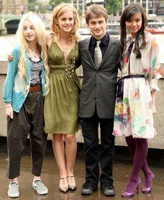 Evanna Lynch(Luna Lovegood), Emma Watson(Hermione Granger), Daniel Radcliffe(Harry Pottet) and Katie Leung(Cho Chang)